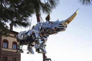 Interlinea King Kong Rhino fine art transport Venice
